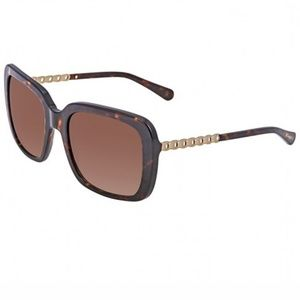 Coach Sunglasses Dark Tortoise/Gold w/Brown Lens